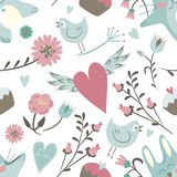 Seamless Valentine background. Tile love pattern. Royalty Free Stock Photos