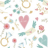 Seamless Valentine background. Tile love pattern. Royalty Free Stock Images