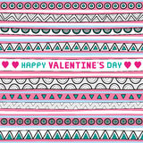 Seamless valentine card2 Royalty Free Stock Photo