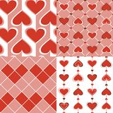 Seamless Valentine and Card Valentine collection. Royalty Free Stock Photo