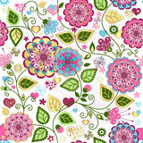 Seamless valentine colorful pattern Royalty Free Stock Image