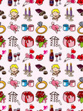Seamless Valentine Day pattern Stock Photo
