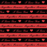 Seamless Valentine Hearts Royalty Free Stock Image