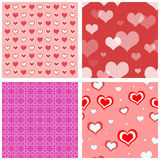 Seamless Valentine Hearts Stock Photography