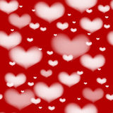 Seamless valentine hearts background Royalty Free Stock Images
