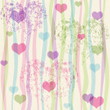 Seamless valentine pastel grunge pattern Royalty Free Stock Photos