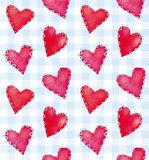 Seamless valentine pattern Royalty Free Stock Image