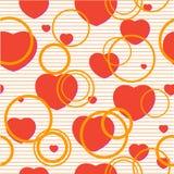 Seamless valentine pattern. Pop-art valentine background with hearts Stock Image