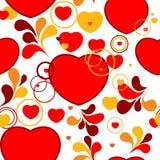 Seamless valentine pattern. Pop-art red valentine background Stock Photo
