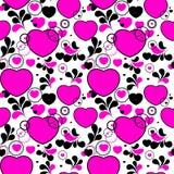 Seamless valentine pattern. Pop-art valentine pink background Royalty Free Stock Photos
