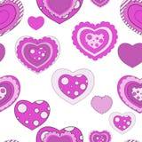 Seamless valentine pattern. Pop-art pink valentine background Royalty Free Stock Image