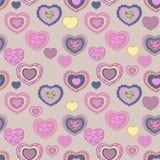 Seamless valentine pattern. Pink pop-art valentine background Stock Image