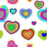 Seamless valentine pattern. Color pop-art valentine background Stock Images