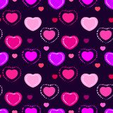 Seamless valentine pattern Royalty Free Stock Photos