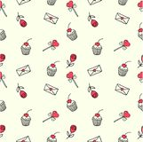 Seamless valentine pattern Royalty Free Stock Image