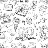 Seamless valentine pattern. Excellent vector illustration, EPS 10 Stock Images