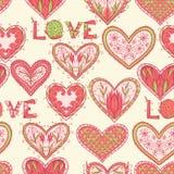 Seamless Valentine pattern Stock Photo