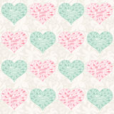 Seamless valentine pattern Stock Photography