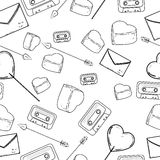 Seamless valentine pattern Royalty Free Stock Photo