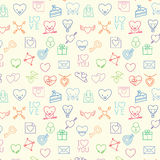 Seamless valentine pattern Royalty Free Stock Images
