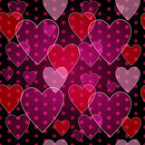 Seamless valentine pattern Royalty Free Stock Photos