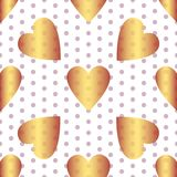 Seamless valentine pattern. Seamless valentine spotty pattern with translucent hearts vector eps 10 Royalty Free Stock Image