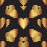 Seamless valentine pattern. Seamless valentine spotty pattern with translucent hearts vector eps 10 Stock Photo