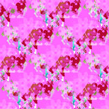 Seamless valentine pattern. Seamless valentine spotty pattern with translucent hearts vector eps 10 Stock Photography