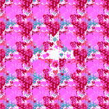 Seamless valentine pattern. Seamless valentine spotty pattern with translucent hearts vector eps 10 Royalty Free Stock Photos