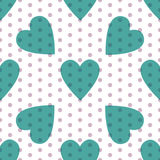Seamless valentine pattern. Seamless valentine spotty pattern with translucent hearts vector eps 10 Royalty Free Stock Images