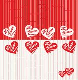 Seamless Valentine Pattern in vector. Seamless texture composition. Illustration with a lot of hearts in vector Stock Photography