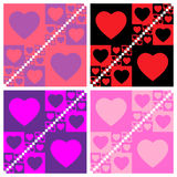 Seamless valentine patterns Stock Photography