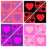 Seamless valentine patterns Stock Photography