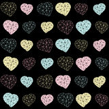 Seamless Valentine's background. Polygonal hearts. Royalty Free Stock Photo