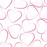 Seamless valentine-s day background. Pink hearts, seamless valentine-s day background, eps 10 Royalty Free Stock Images