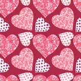 Seamless valentine's day background Royalty Free Stock Image