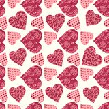 Seamless valentine's day background Royalty Free Stock Photography
