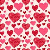 Seamless valentine's day background Stock Image