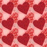 Seamless valentine's day background Royalty Free Stock Images