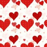 Seamless valentine's day background Stock Photos