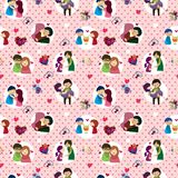 Seamless Valentine's Day pattern Royalty Free Stock Images