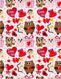 Seamless Valentine's Day pattern. Vector drawing Stock Photos