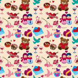 Seamless Valentine's Day pattern Royalty Free Stock Photography
