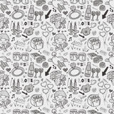 Seamless Valentine's Day pattern Royalty Free Stock Photo