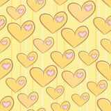 Seamless Valentines Day pattern with hearts Royalty Free Stock Photography