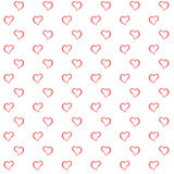 Seamless Valentine's day watercolor heart Stock Photography