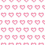 Seamless Valentine's day watercolor pink heart Royalty Free Stock Photo