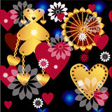 Seamless valentine spotty pattern Royalty Free Stock Photo