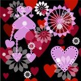 Seamless valentine spotty pattern Royalty Free Stock Photos