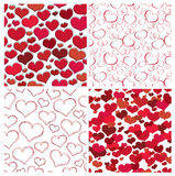 Seamless valentine textures Royalty Free Stock Images